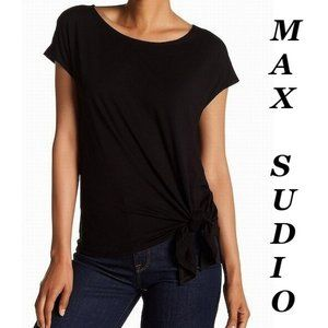 ❤️ Max Studio Black Top Size Large Knotted Large